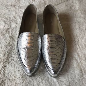 Reaction Kenneth Cole Passport Loafer Silver 8-1/2